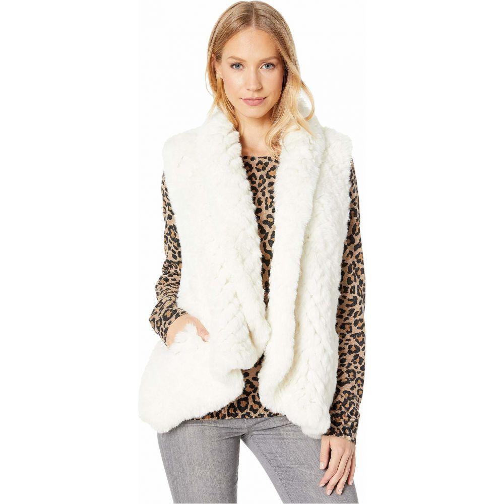 ラブトークン Love Token レディース ベスト・ジレ トップス【Ali Faux Fur Vest】Ivory