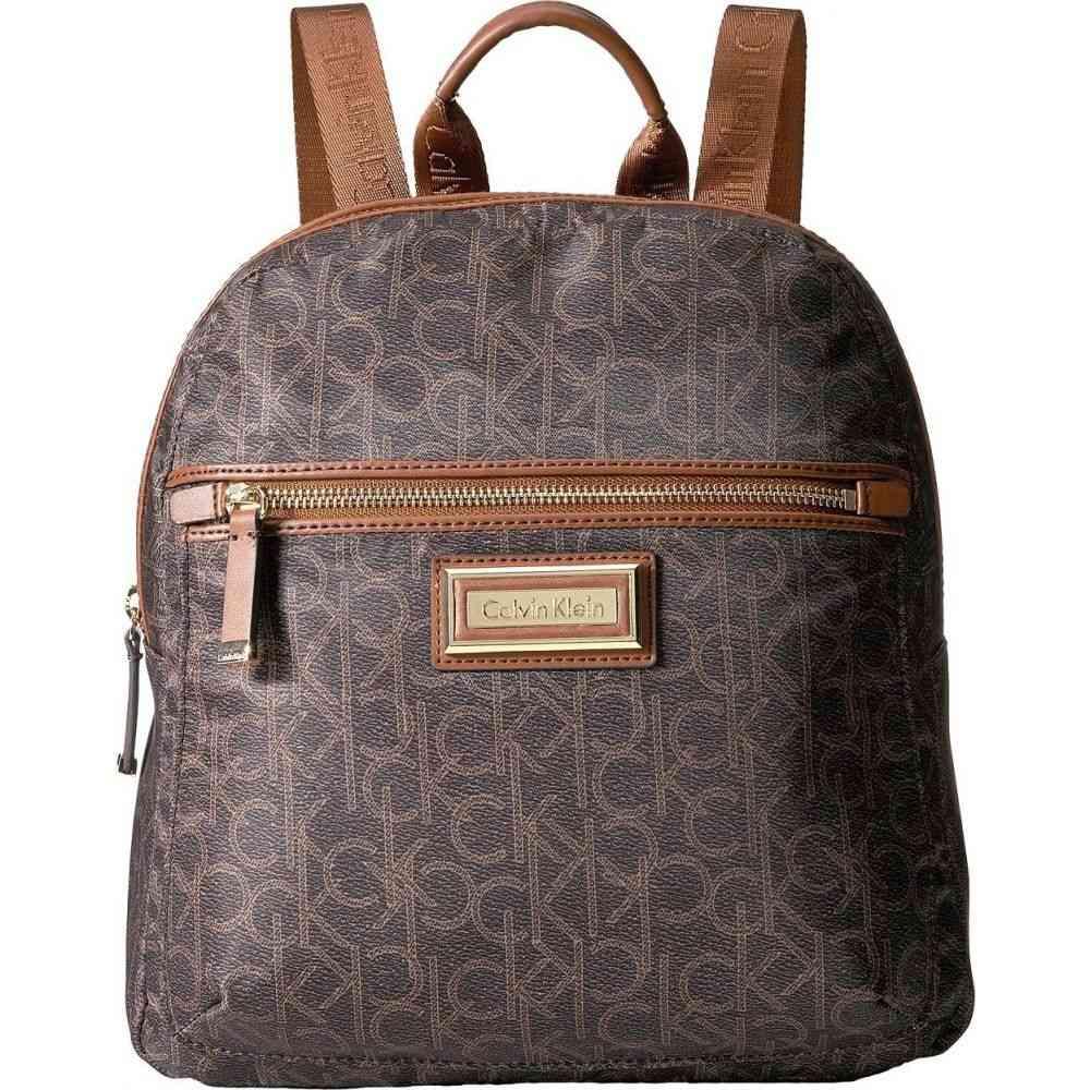 カルバンクライン Calvin Klein レディース バックパック・リュック バッグ【Belfast Dressy Nylon Backpack】Brown/Khaki Photoprint