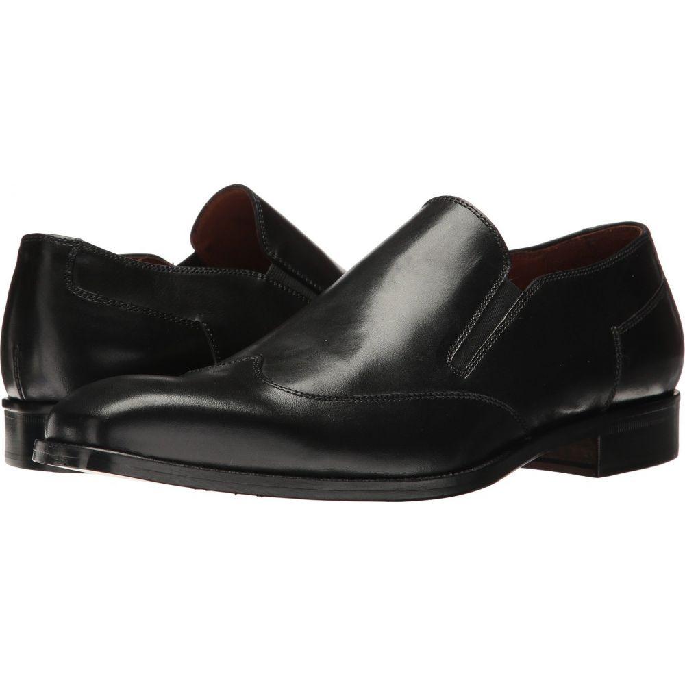マッテオ マッシモ Massimo Matteo メンズ スリッポン・フラット ウイングチップ シューズ・靴【Wing Tip Slip-On】Black