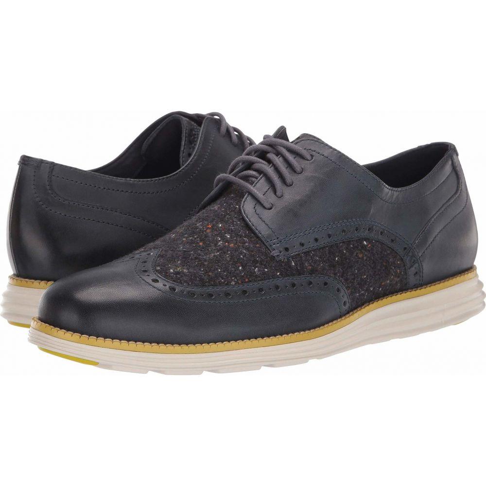 コールハーン Cole Haan メンズ 革靴・ビジネスシューズ ウイングチップ シューズ・靴【Original Grand Wingtip Oxford】Ombre Blue Leather/Wool/Pumice Stone