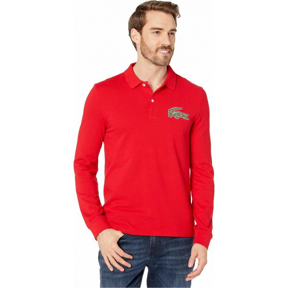 ラコステ Lacoste メンズ ポロシャツ トップス【Long Sleeve Heavy Pique Croco Magic Polo Regular】Red