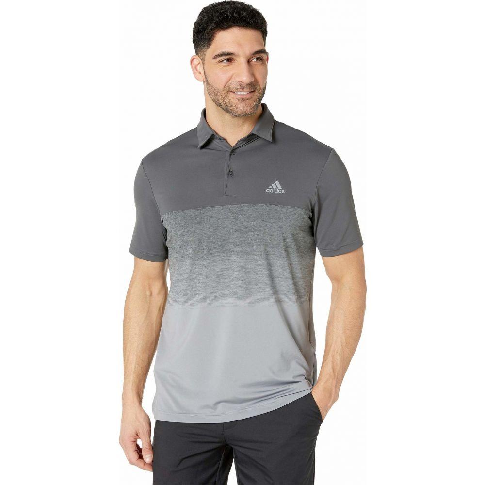 アディダス adidas Golf メンズ ポロシャツ トップス【Ultimate365 Fade Stripe Polo Shirt】Grey Six/Grey Three