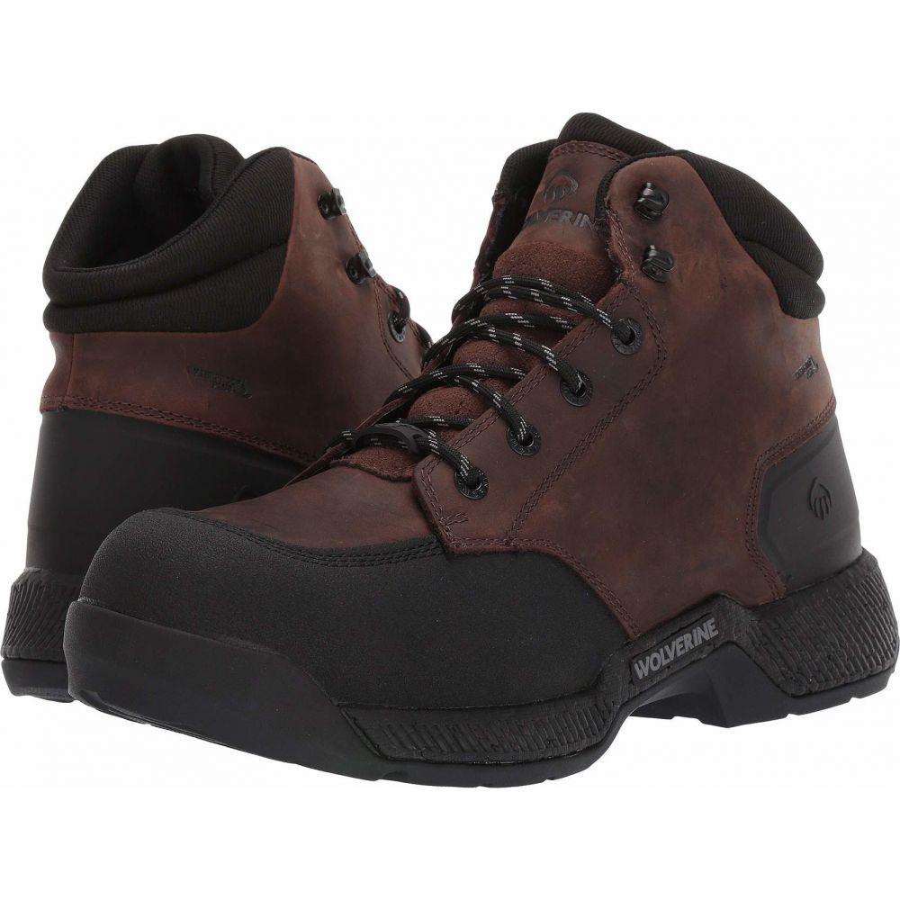 ウルヴァリン Wolverine メンズ ブーツ ワークブーツ シューズ・靴【Carom CarbonMAX 6 Work Boot】Brown