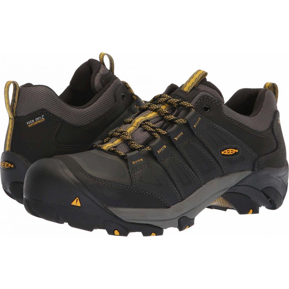 キーン メンズ ハイキング 登山 シューズ 靴 Raven Yellow Steel Waterproof オリジナル サイズ交換無料 Toe Boulder Utility Keen 並行輸入品