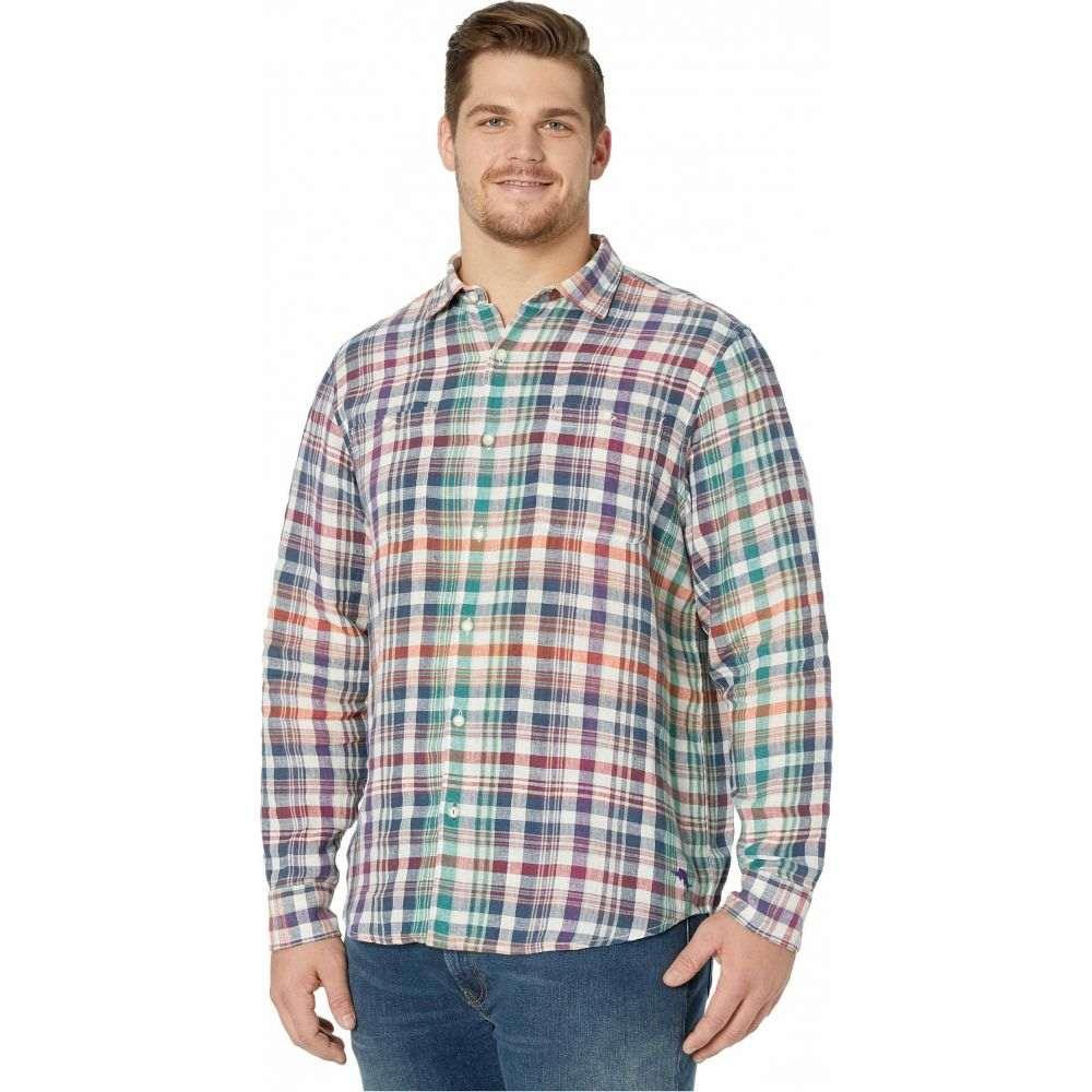 トミー バハマ Tommy Bahama Big & Tall メンズ シャツ トップス【Valverde Plaid Linen Shirt】Summer Night