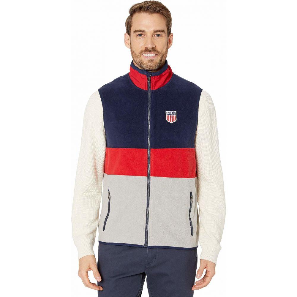 ラルフ ローレン Polo Ralph Lauren メンズ ベスト・ジレ トップス【Americana Fleece Vest】Andover Heather Multi