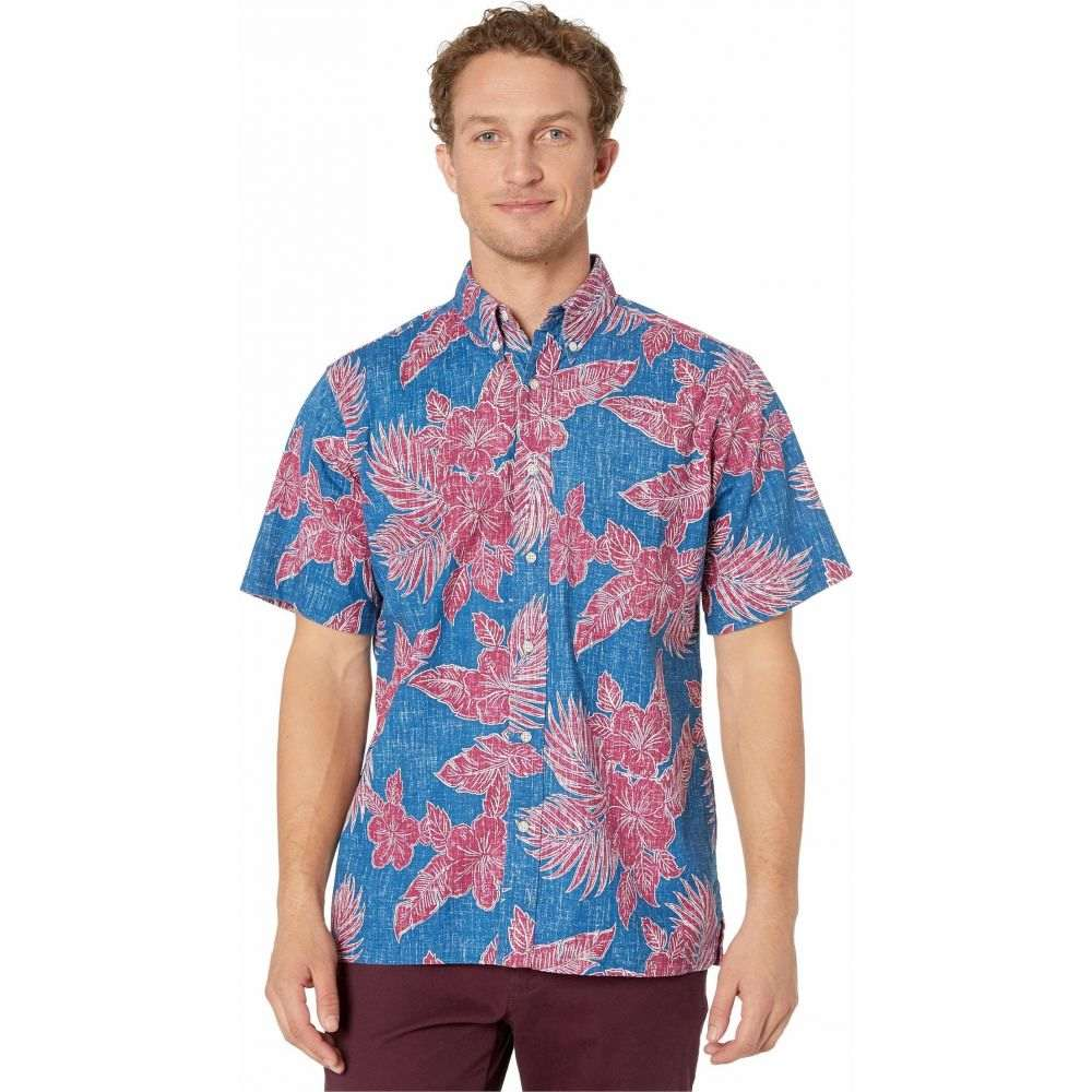 レインスプーナー Reyn Spooner メンズ シャツ トップス【Hibiscus Fronds Classic Fit Weekend Wash Shirt】Dark Blue