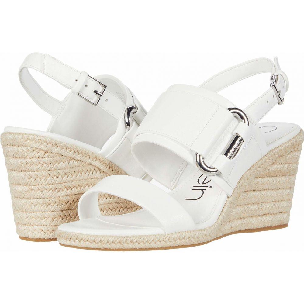 カルバンクライン Calvin Klein レディース サンダル・ミュール シューズ・靴【Breanne】White