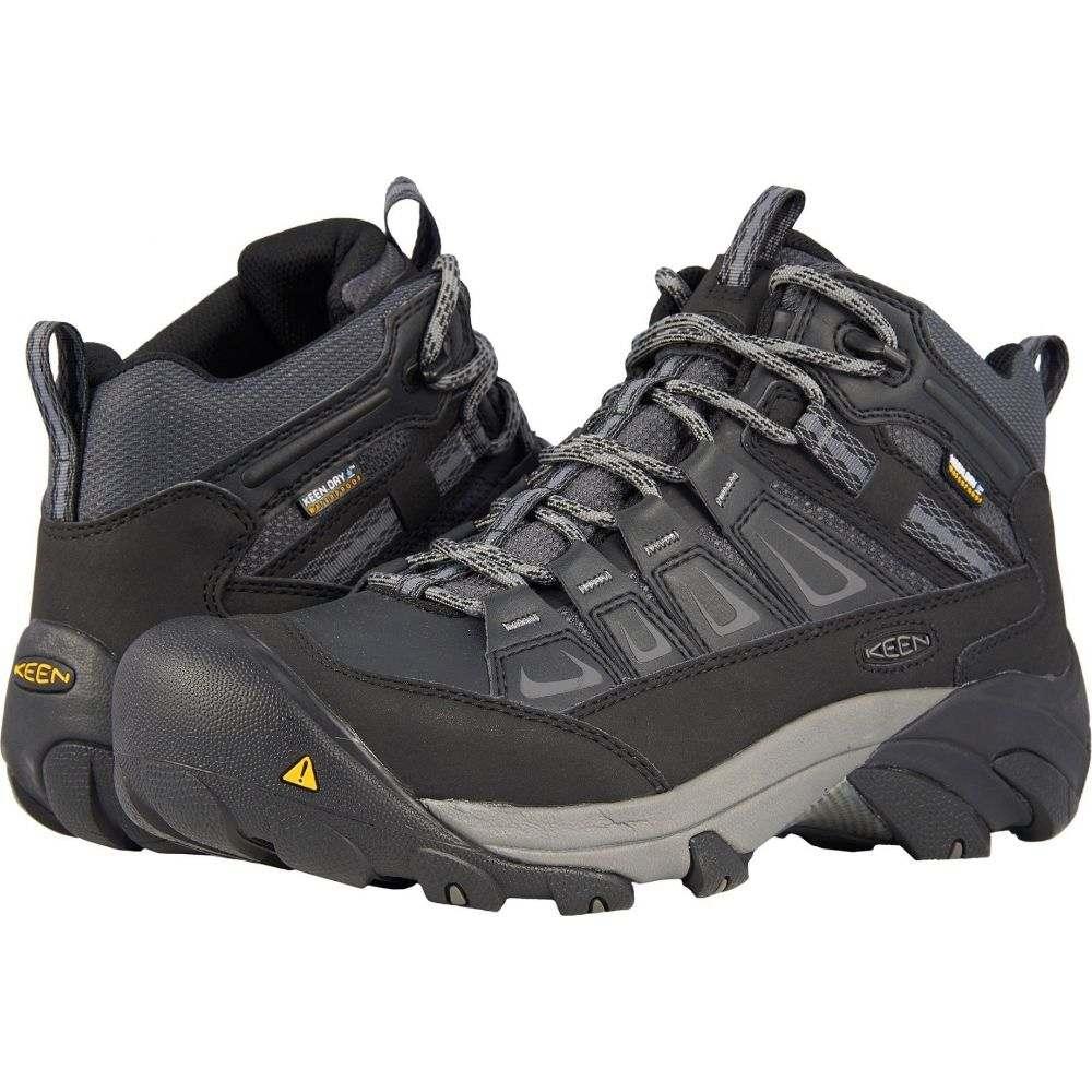 キーン Keen Utility メンズ ハイキング・登山 シューズ・靴【Boulder Mid Waterproof Steel Toe】Magnet/Gargoyle