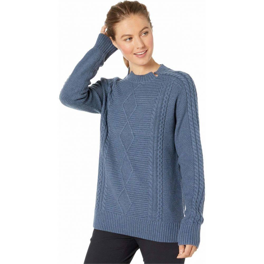 オバマイヤー Obermeyer レディース ニット・セーター トップス【Tristan Cable Knit Sweater】Slate The Facts