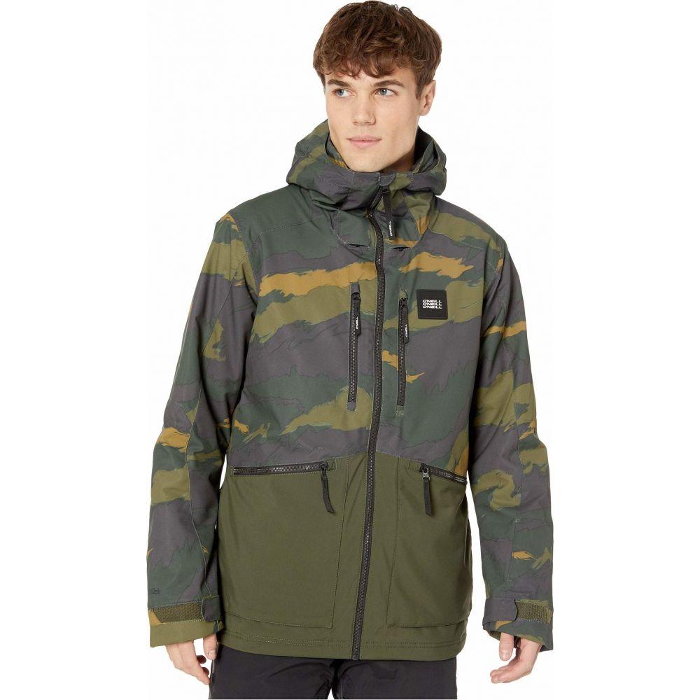 オニール O'Neill メンズ スキー・スノーボード ジャケット アウター【Textured Jacket】Green Aop