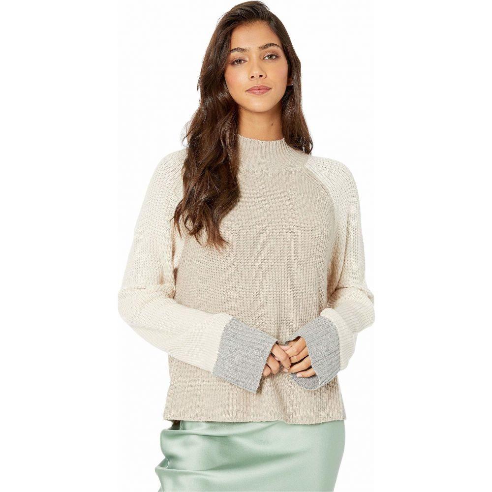 スプレンディッド Splendid レディース ニット・セーター トップス【Alta Color Block Pullover Sweater】Heather Toast