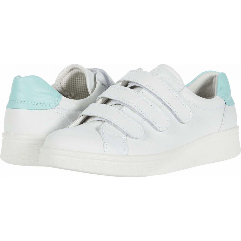 エコー ECCO レディース スニーカー シューズ・靴【Soft 4 Three Strap Sneaker】White/Eggshell Blue Cow Leather/Cow Leather