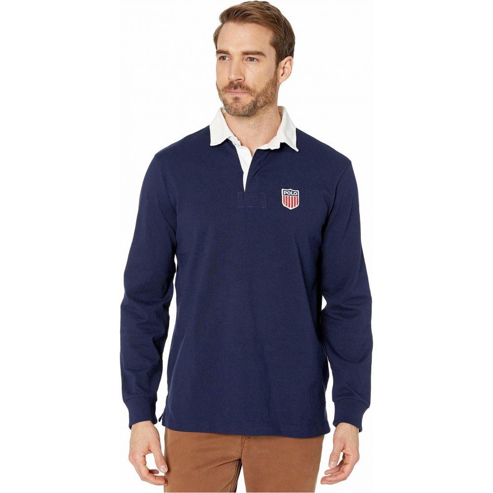 ラルフ ローレン Polo Ralph Lauren メンズ ポロシャツ トップス【Active Long Sleeve Polo】Cruise Navy