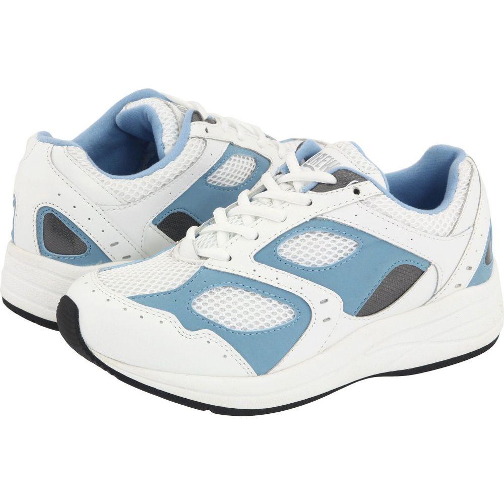 ドリュー Drew レディース シューズ・靴 【Flare】White/Blue Leather/White Mesh