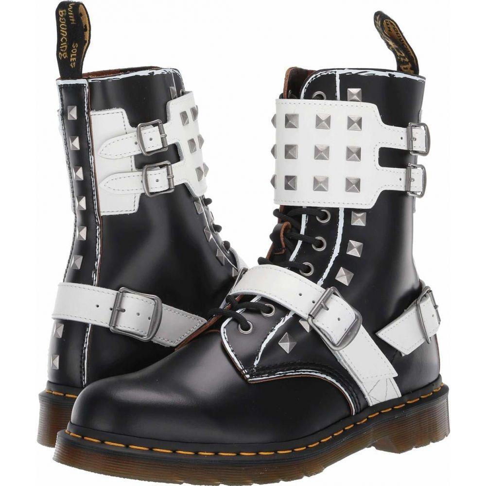 ドクターマーチン Dr. Martens レディース ブーツ シューズ・靴【1490 Joska Stud】Black/White Rolled Vintage Smooth/Smooth