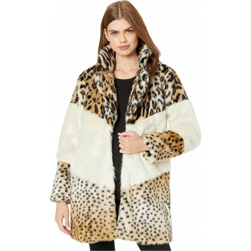 ブランクニューヨーク Blank NYC レディース コート アウター【Faux Fur Leopard and Color Block Coat in Weekend Vibes】Multicolor