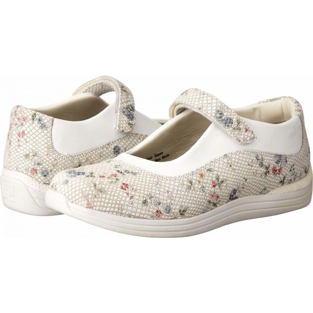 ドリュー Drew レディース スリッポン・フラット シューズ・靴【Rose】White Floral Snake Print Leather