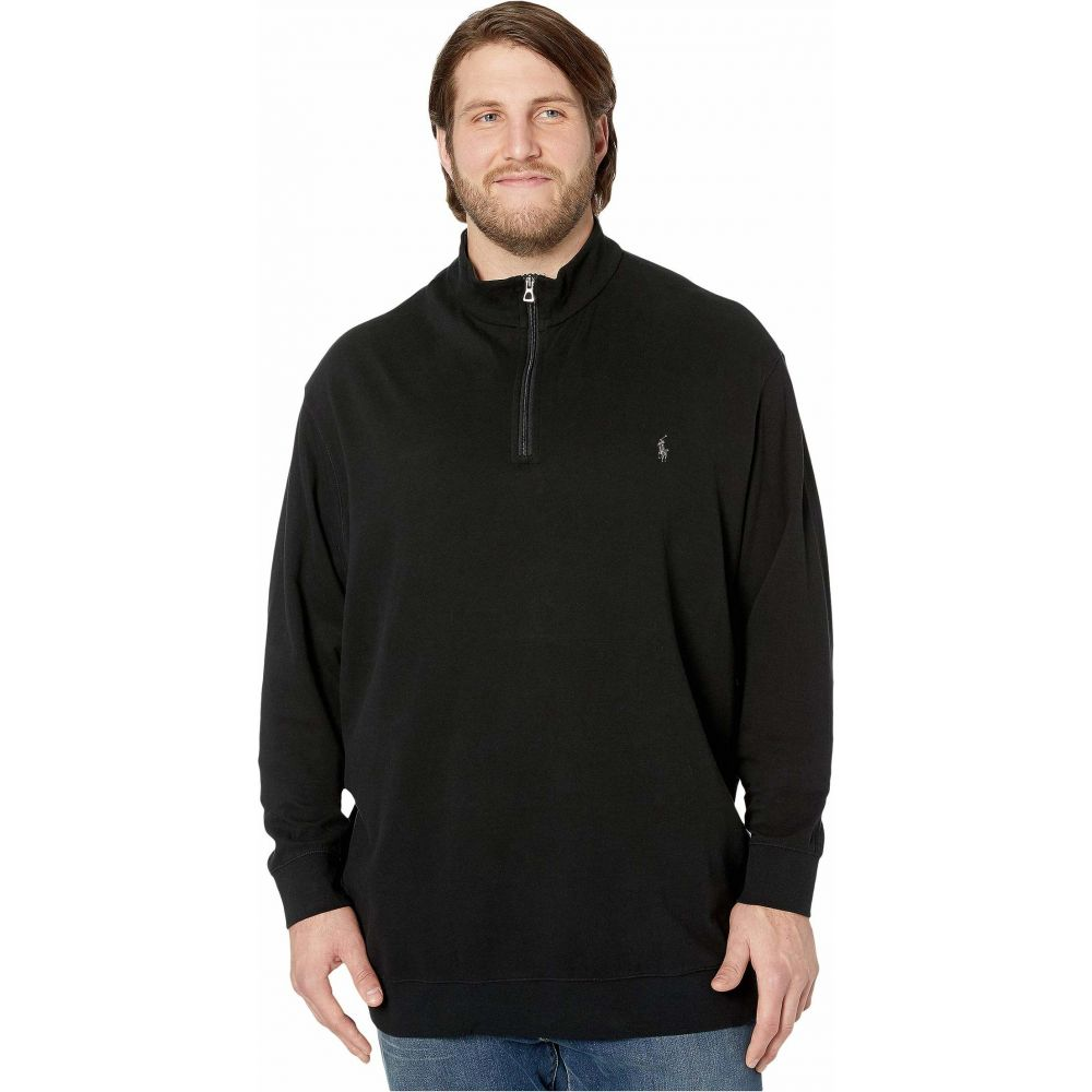 ラルフ ローレン Polo Ralph Lauren Big & Tall メンズ ポロシャツ ハーフジップ 大きいサイズ トップス【Big & Tall Luxury Jersey 1/2 Zip】Polo Black