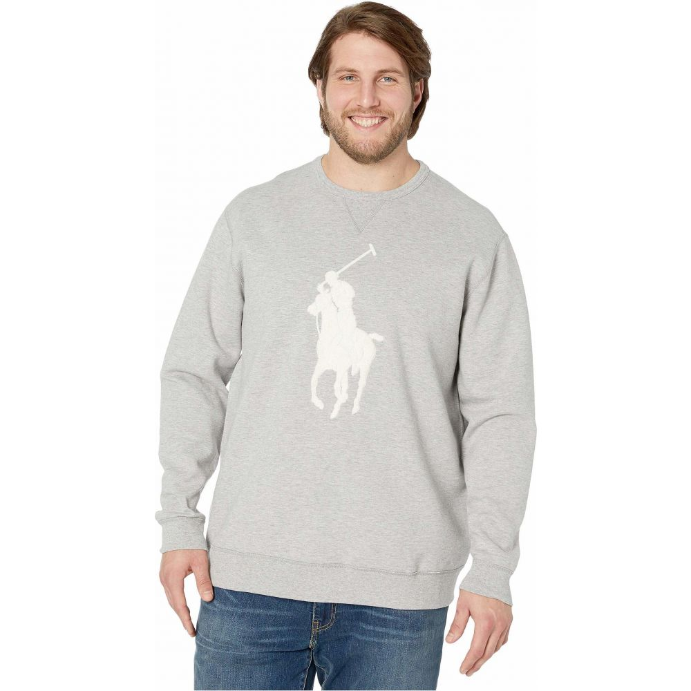 ラルフ ローレン Polo Ralph Lauren Big & Tall メンズ 長袖Tシャツ 大きいサイズ トップス【Big & Tall Long Sleeve Double Knit Tech Package】Andover Heather