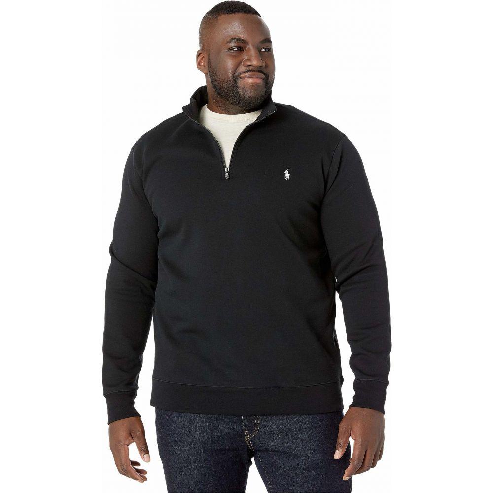 ラルフ ローレン Polo Ralph Lauren Big & Tall メンズ ポロシャツ ハーフジップ トップス【Quarter Zip Double Knit Sweater】Polo Black