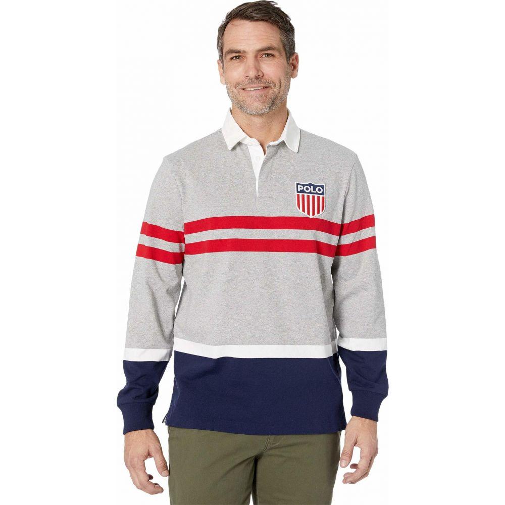 ラルフ ローレン Polo Ralph Lauren メンズ ポロシャツ トップス【Striped Color Block Polo Knit】Andover Heather Multi