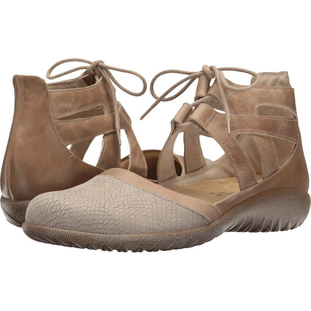 ナオト Naot レディース スリッポン・フラット シューズ・靴【Kata】Beige Iguana Nubuck/Khaki Beige Leather/Arizona Tan Leather