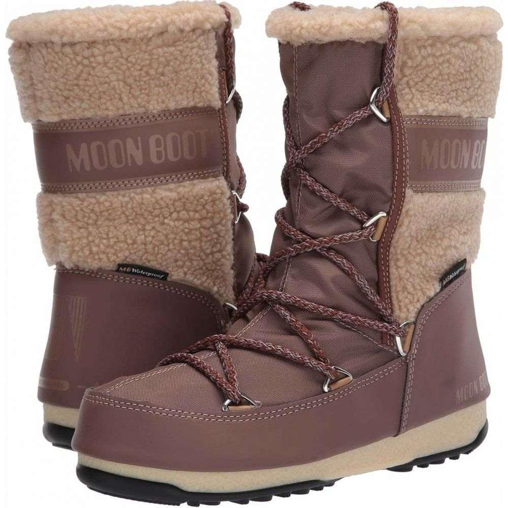 ムーンブーツ MOON BOOT レディース ブーツ シューズ・靴【Moon Boot Monaco Wool Mid】Mud