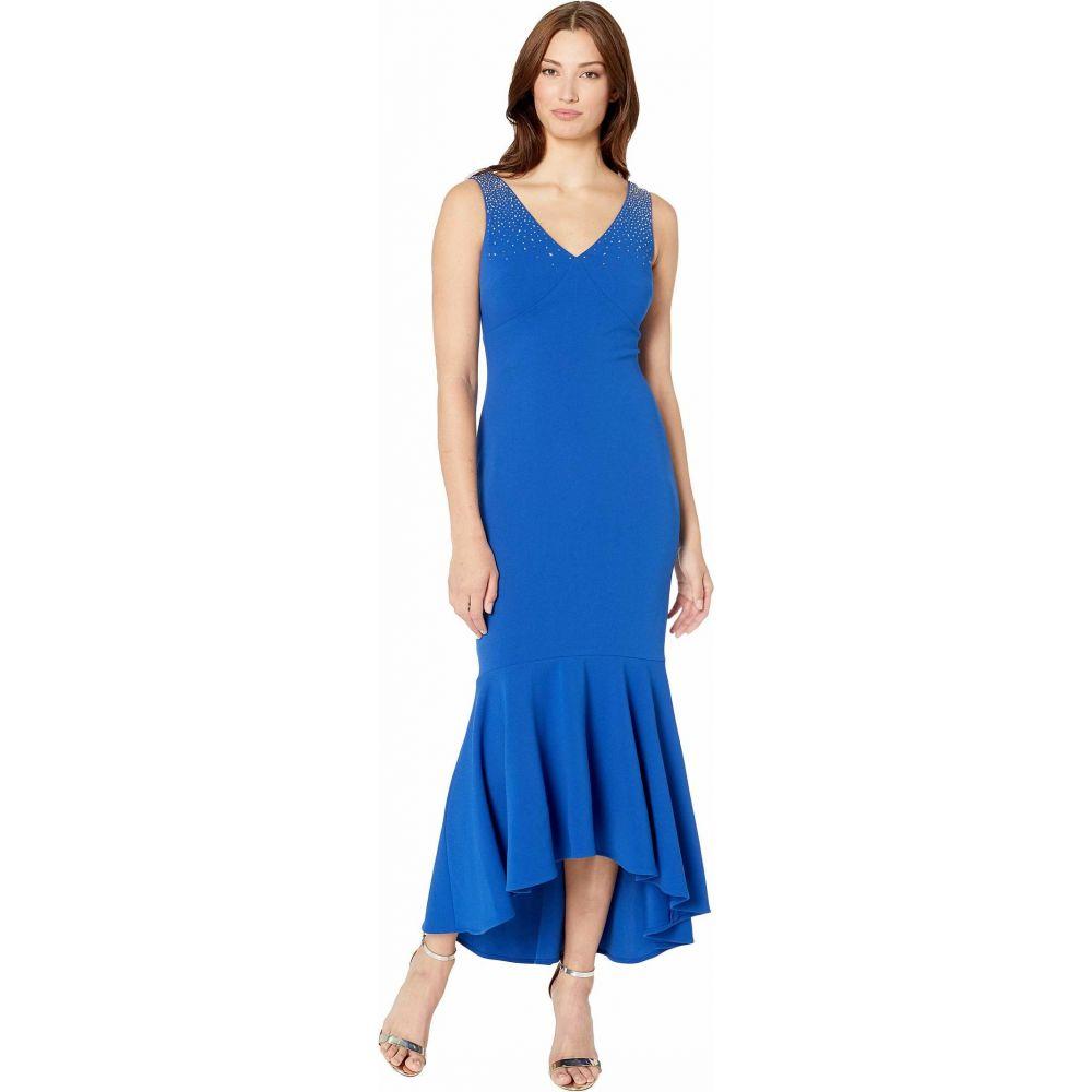カルバンクライン Calvin Klein レディース パーティードレス ワンピース・ドレス【High-Low Gown with Embellished Shoulder】Regatta