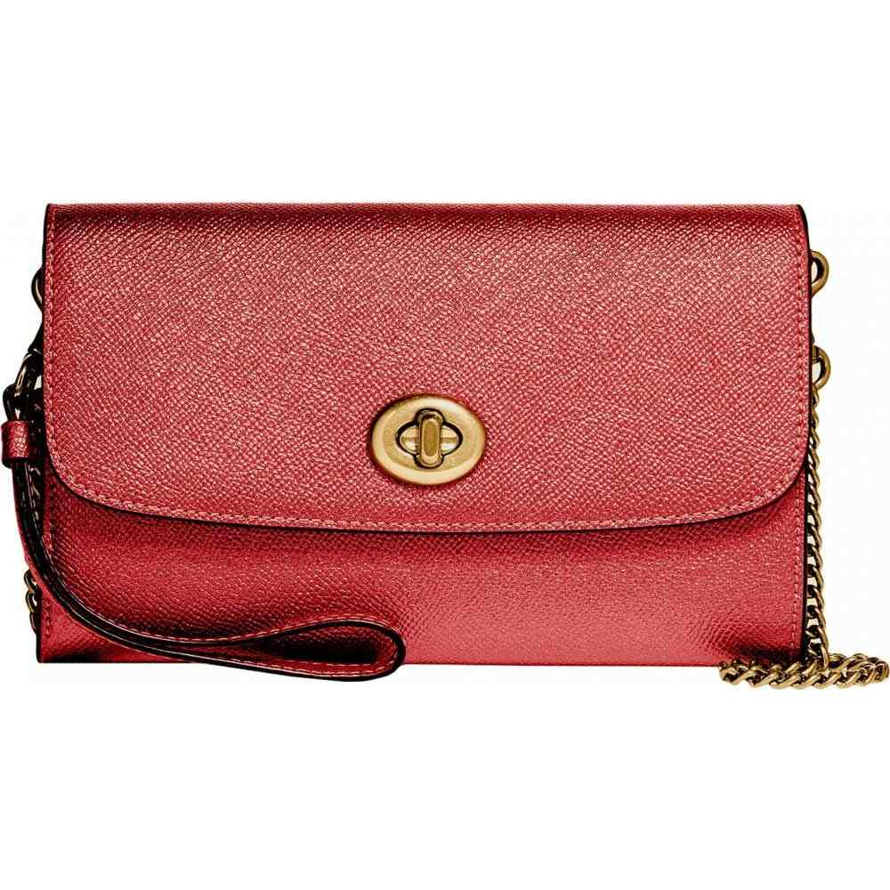 コーチ COACH レディース ショルダーバッグ バッグ【Metallic Leather Chain Crossbody】Metallic Currant