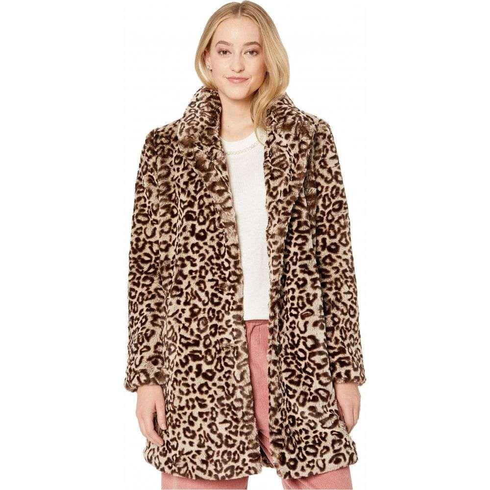 ビービーダコタ BB Dakota レディース コート ファーコート アウター【Meowie Wowie Leopard Faux Fur Coat】Brown