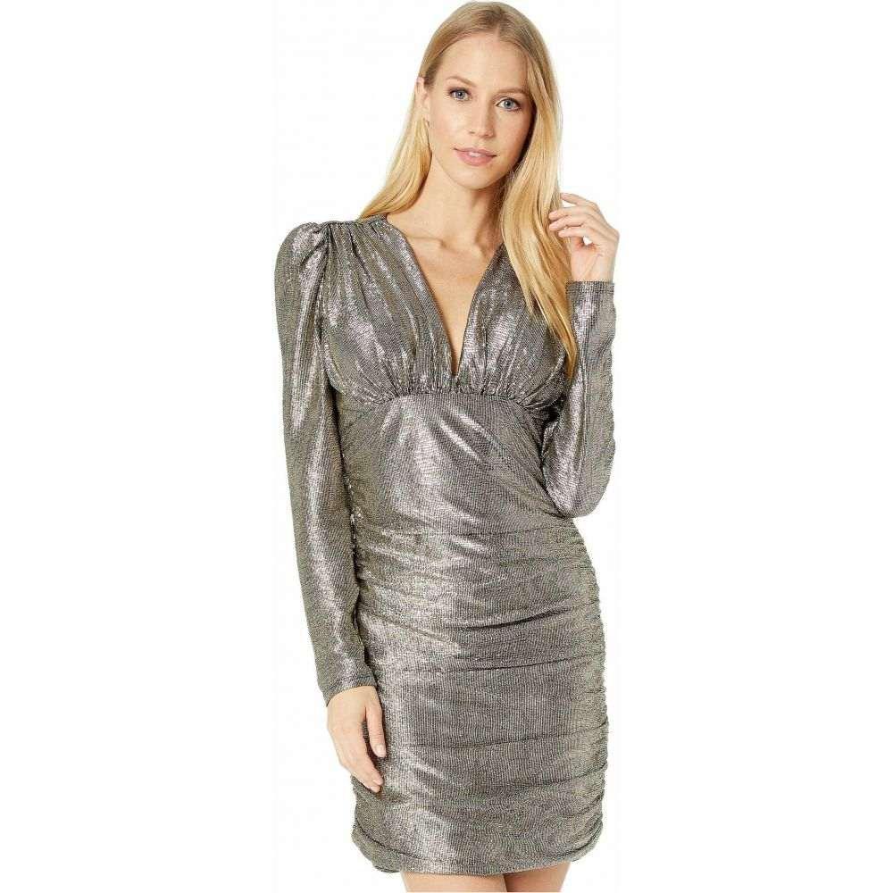 ビーシービージーマックスアズリア BCBGMAXAZRIA レディース パーティードレス カクテルドレス ワンピース・ドレス【Long Sleeve Metallic Cocktail Dress】