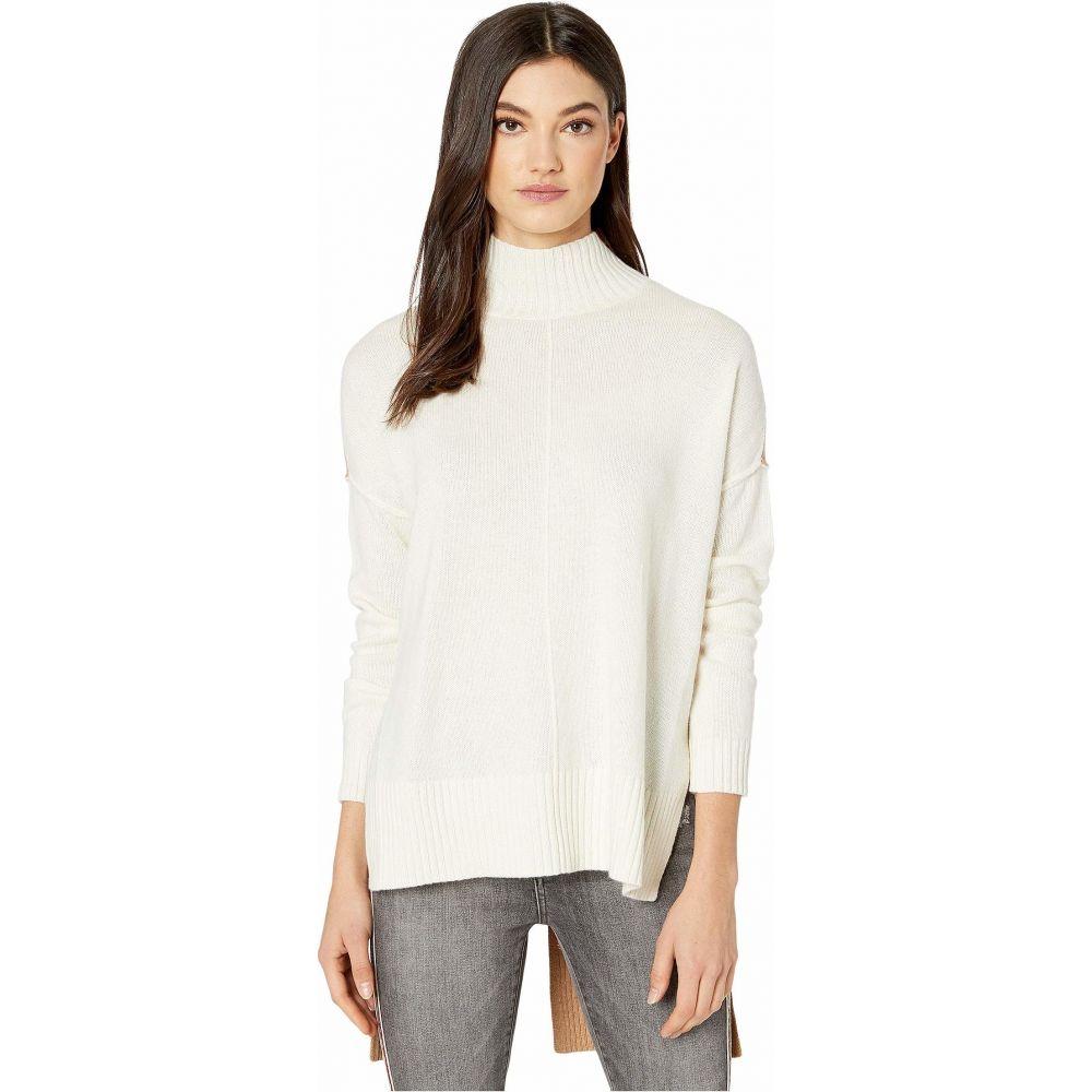 ビーシービージーマックスアズリア BCBGMAXAZRIA レディース ニット・セーター トップス【Mock Long Sleeve Pullover Sweater】Gardenia Combo