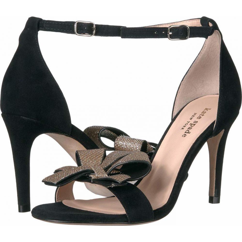 ケイト スペード Kate Spade New York レディース サンダル・ミュール シューズ・靴【Greta】Black Suede