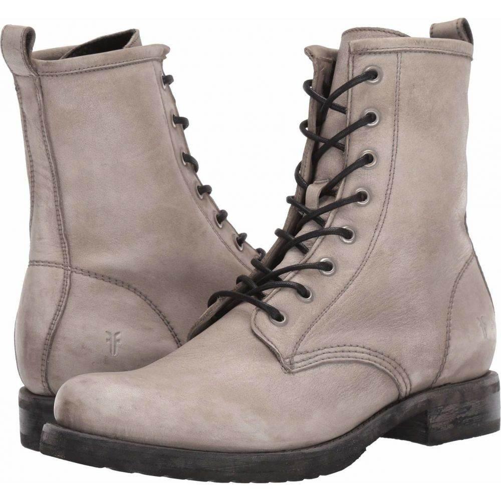 フライ Frye レディース ブーツ シューズ・靴【Veronica Combat】Grey Waxed Full Grain