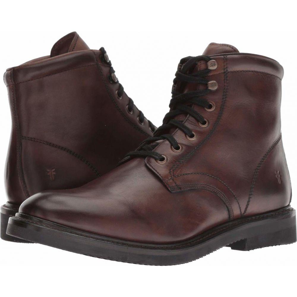 フライ Frye メンズ ブーツ レースアップ シューズ・靴【Gordon Lace-Up】Dark Brown Hammered Dip-Dye Leather