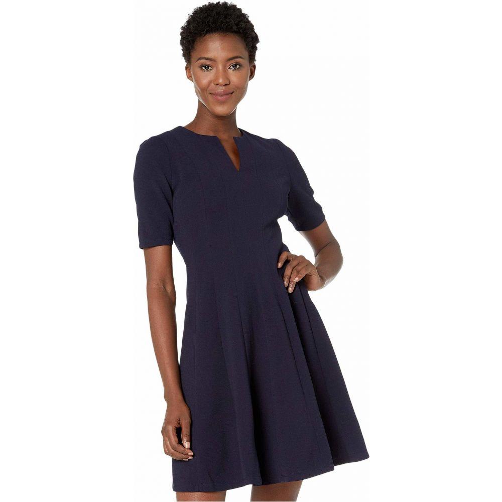 マギーロンドン Maggy London レディース ワンピース ワンピース・ドレス【Metro Knit Fit and Flare Dress】Navy