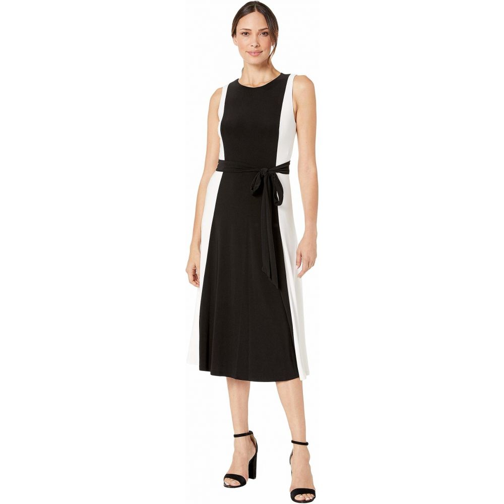 ラルフ ローレン LAUREN Ralph Lauren レディース ワンピース ノースリーブ ワンピース・ドレス【Mid Weight Matte Jersey Murila Sleeveless Day Dress】Black/Colonial Cream