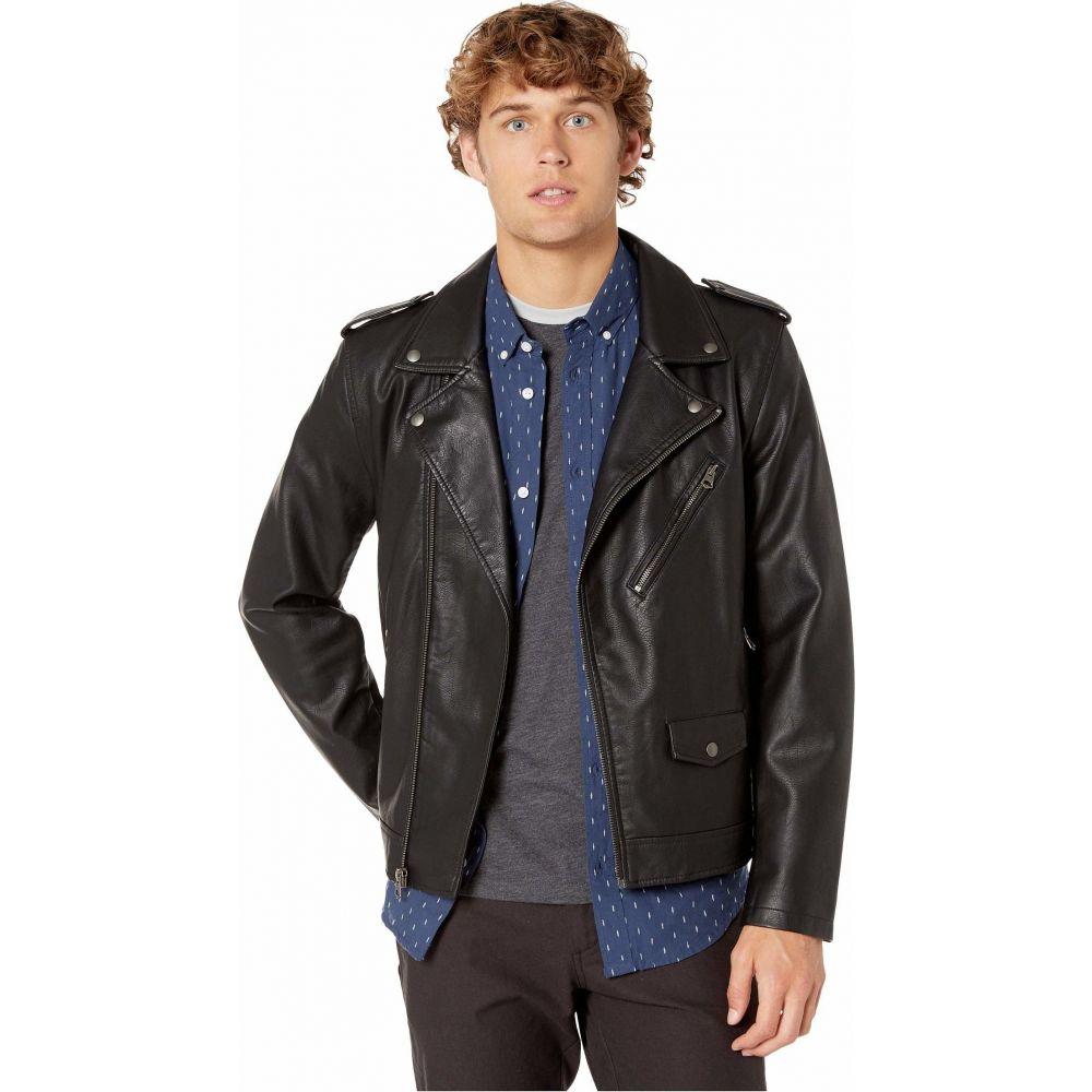 リーバイス Levi's メンズ レザージャケット アウター【Faux Leather Moto】Black