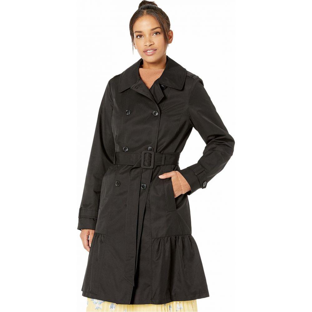 ケイト スペード Kate Spade New York レディース トレンチコート アウター【Cotton Blend Trench Coat with Waist Tie】Black