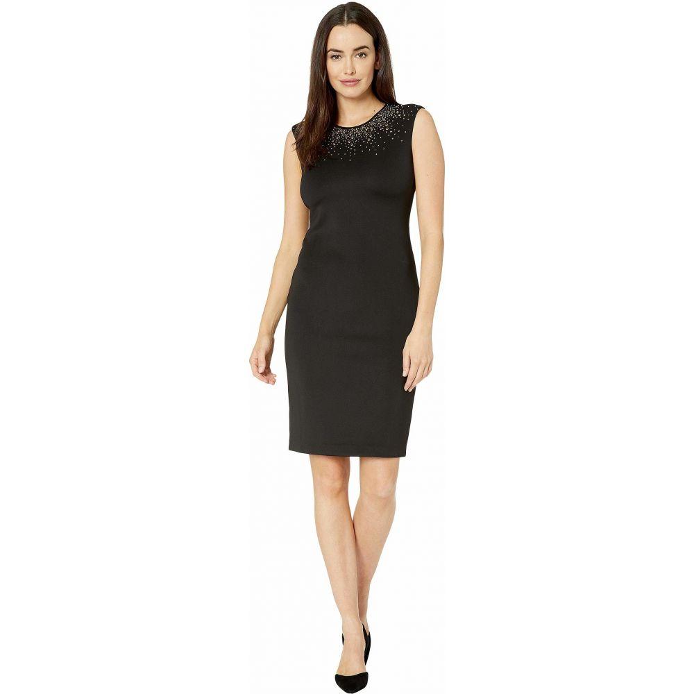 カルバンクライン Calvin Klein レディース ワンピース ワンピース・ドレス【Embellished Neck Dress】Black