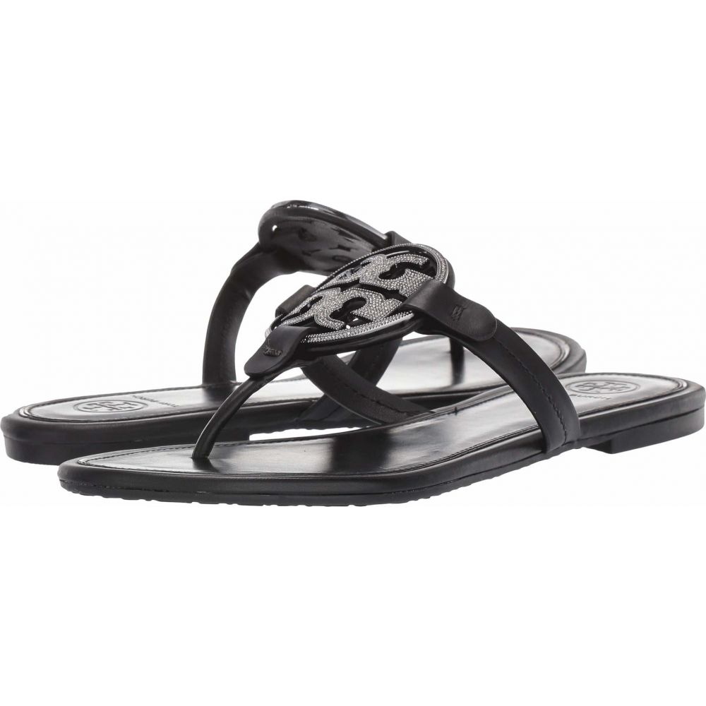 トリー バーチ Tory Burch レディース サンダル・ミュール シューズ・靴【Metal Miller Embellished Sandal】Perfect Black