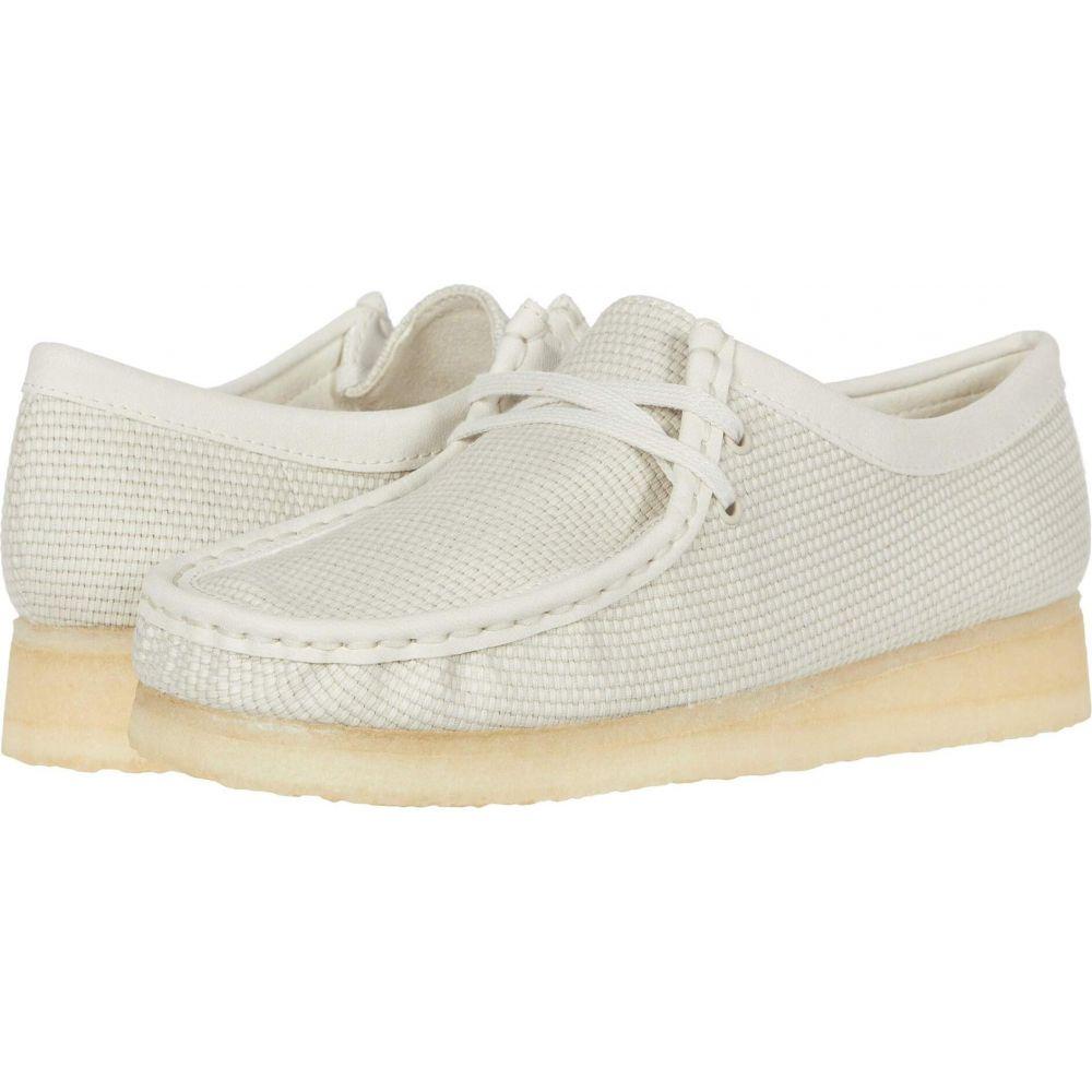 クラークス Clarks レディース ブーツ シューズ・靴【Wallabee】Off-White Textile