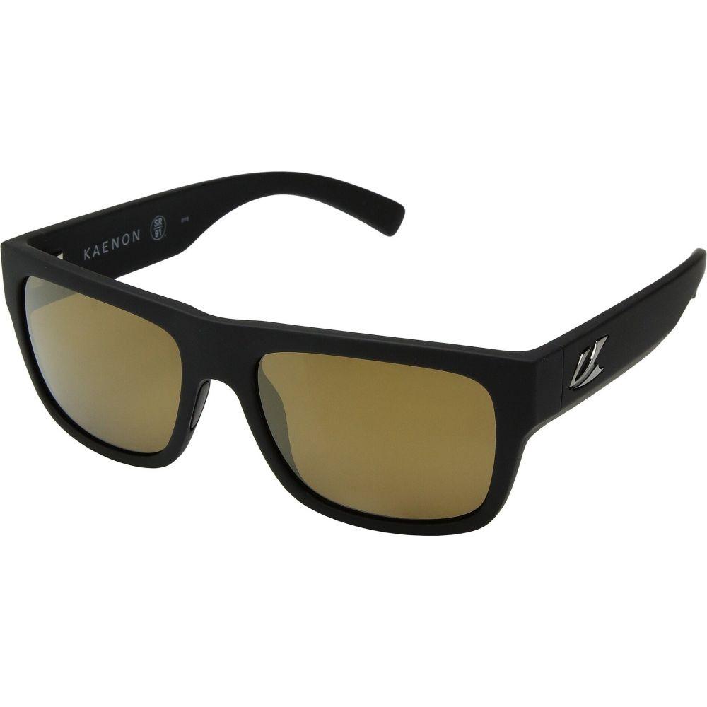 カエノン Kaenon レディース メガネ・サングラス 【Montecito】Black Matte Grip Brown 12-Polarized Gold Mirror