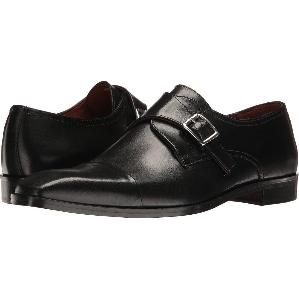 マッテオ マッシモ Massimo Matteo メンズ 革靴・ビジネスシューズ シューズ・靴【Single Monk Cap Toe】Black