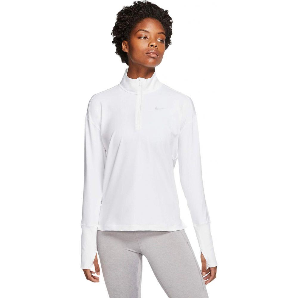 ナイキ Nike レディース トップス ハーフジップ【Element 1/2 Zip Top】White/Reflective Silver