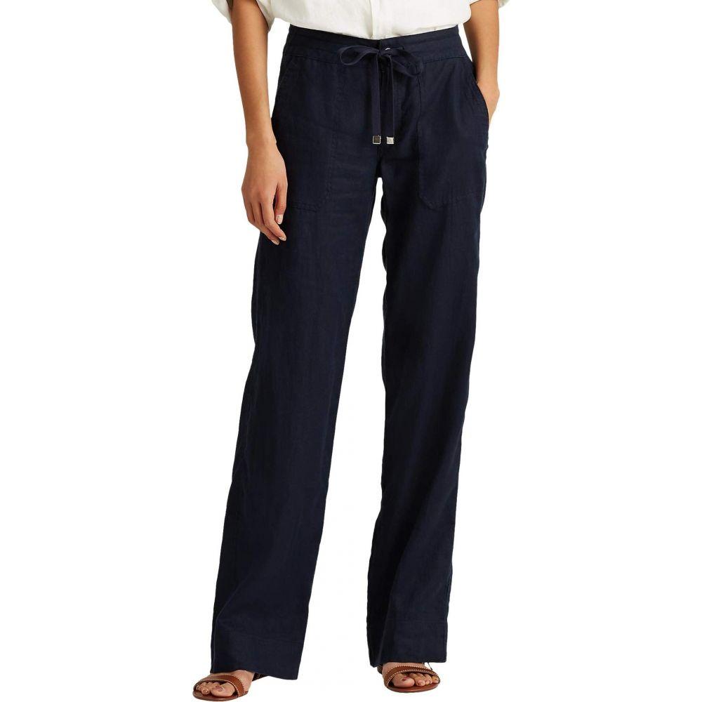 ラルフ ローレン LAUREN Ralph Lauren レディース ボトムス・パンツ 【Linen Wide-Leg Pants】Navy