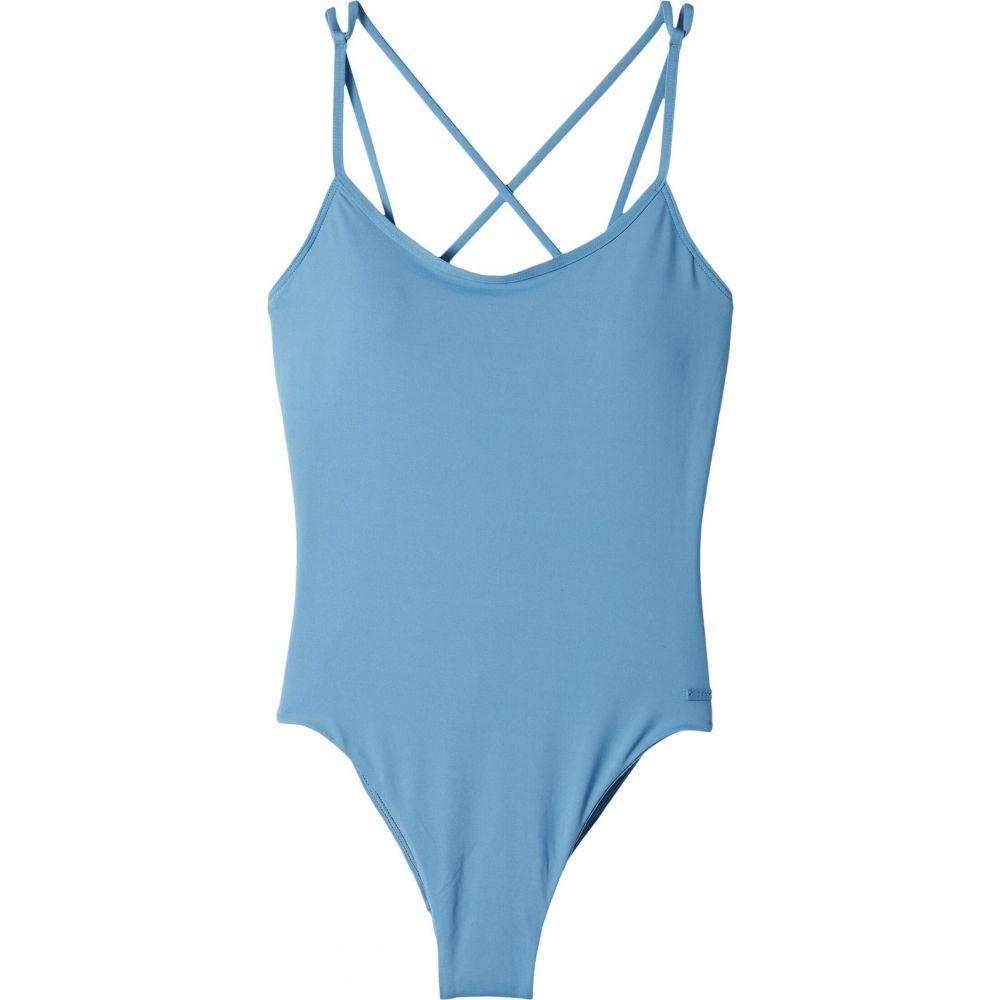 ロキシー Roxy レディース ワンピース 水着・ビーチウェア【Solid Beach Classics One-Piece Swimsuit】Blue Heaven
