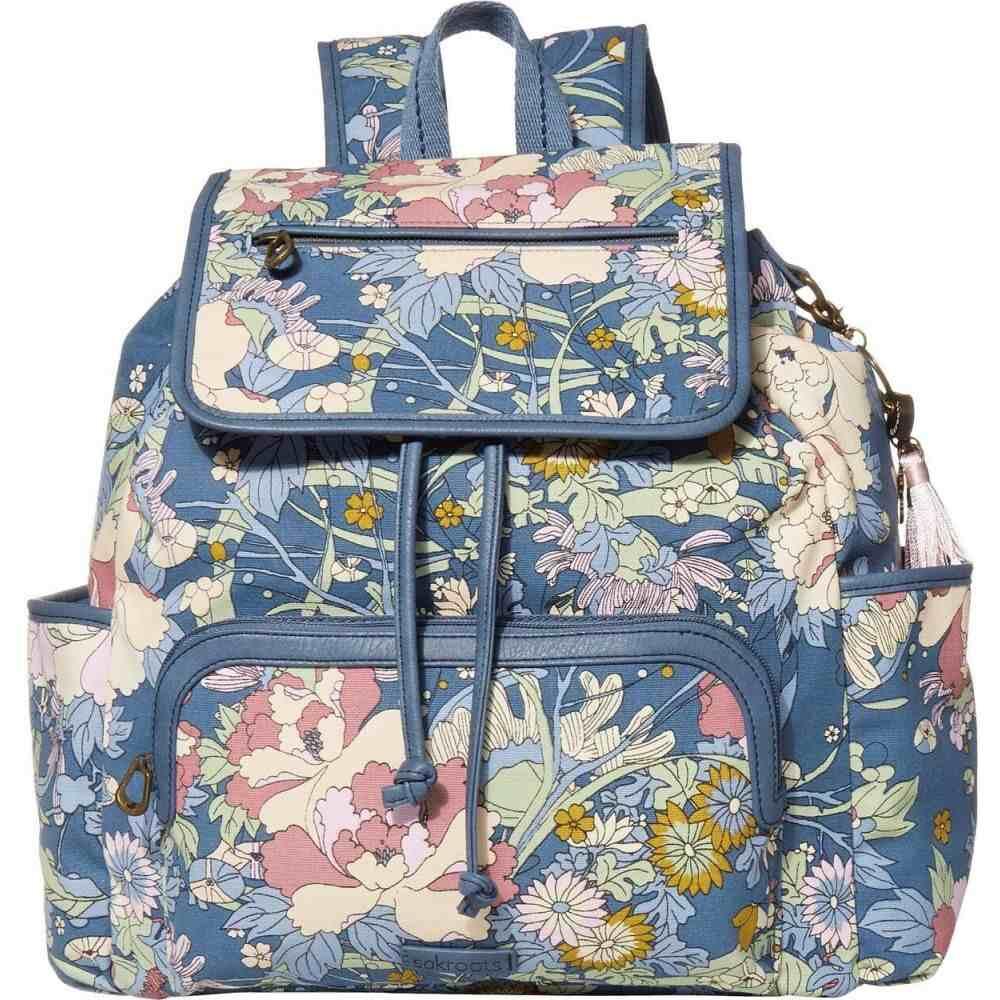 サックルーツ Sakroots レディース バックパック・リュック バッグ【Fleetwood Backpack】Denim Flower Power