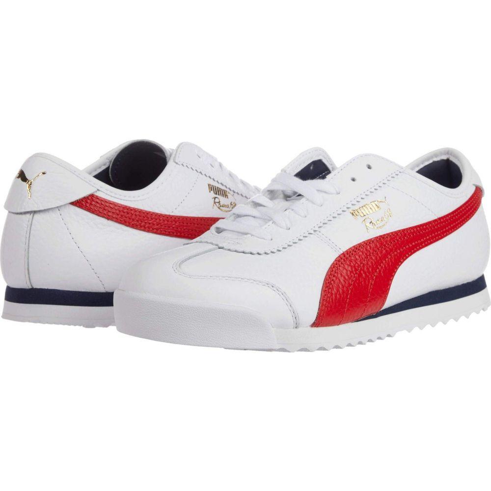 プーマ PUMA メンズ スニーカー シューズ・靴【Roma '68 Vintage】Puma White/High Risk Red